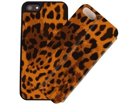 Capa I-PAINT Double iPhone 5/5S/Se Leopard — Capa / iPhone 5/5S/Se