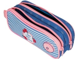 Estojo ROLL ROAD Rose Azul (23x9x7cm)
