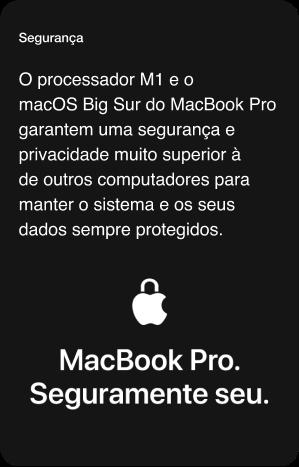 MacBook Pro 13'' Segurança