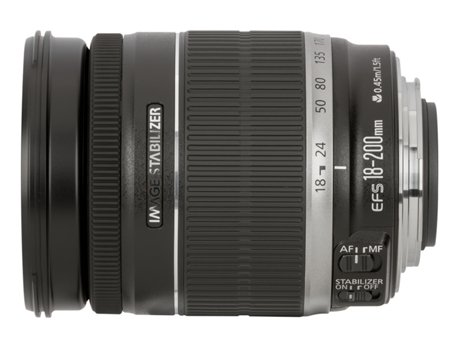 Objetiva CANON EF-S 18-200 mm 3.5-5.6 IS — Abertura: f/5.6 - f/3.5