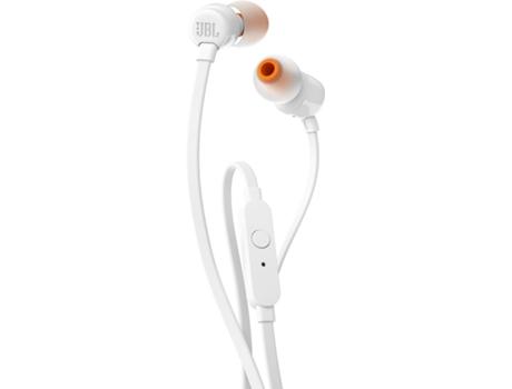 Auriculares Com fio JBL T 110 (In Ear - Microfone - Branco) | [6048353 ]