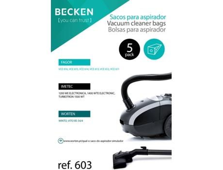 Sacos De Aspirador Becken Refª603 (5 Unidades)   [4264393 ]