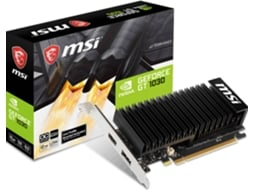 Placa Gráfica MSI GeForce GT 1030 OC Low Profile (NVIDIA - 2 GB DDR4) — NVIDIA | GeForce GT 1030