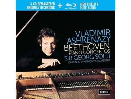 CD+Blu-Ray Vladimir Ashkenazy - Beethoven: The Piano Concertos — Clássica