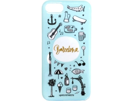 Capa LOVELY STREETS Viagem Barcelona iPhone 6, 6s — Compatibilidade: iPhone 6, 6s