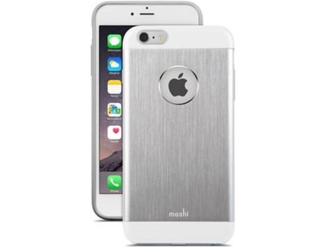 Capa iPhone 6 Plus, 6s Plus, 7 Plus, 8 Plus MOSHI Armour Prateado — Compatibilidade: iPhone 6 Plus, 6s Plus, 7 Plus, 8 Plus