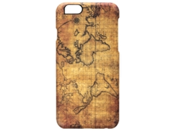 Capa iPhone 6, 6s, 7, 8 I-PAINT Map Castanho — Compatibilidade: iPhone 6, 6s, 7 ,8