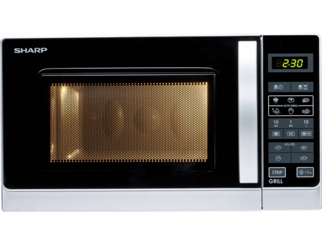 Micro-ondas SHARP R642 INW —  20L / 800W / Grill / Digital