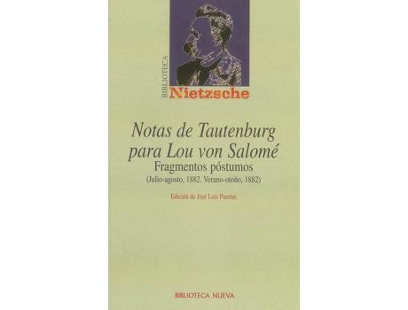 Livro Notas De Tautenburg Para Lou Von Salome de Puertas Nietzsche (Espanhol)