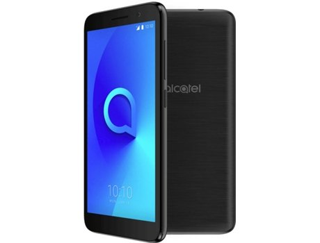 Smartphone ALCATEL 1 8GB Preto — Android 8 | 5'' | Quad-Core | 1 GB RAM