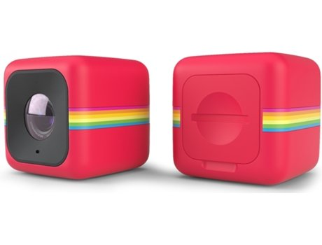 Action Cam POLAROID CUBE+ Red — HD | 8MP | Até 90 minutos