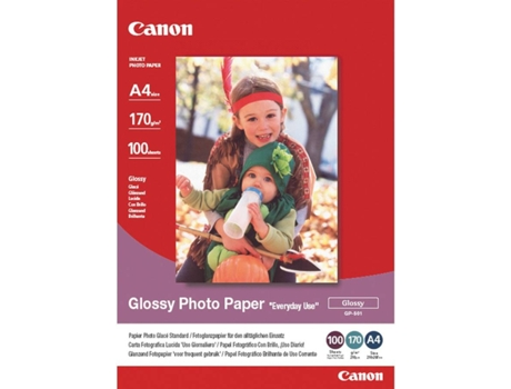 Papel Foto CANON Glossy A4 100F