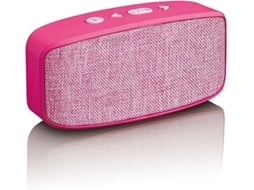 Mini Coluna LENCO BT 120 Rosa — Bluetooth