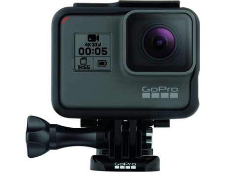 Action Cam GOPRO Hero 5 Preto — 4K / Wi-Fi /  Bluetooth