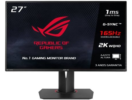 Monitor Gaming ASUS ROG Swift PG278QR (27'' - 1 ms - 165 Hz - NVIDIA G-Sync) — LED TN | Resolução: 2560x1440
