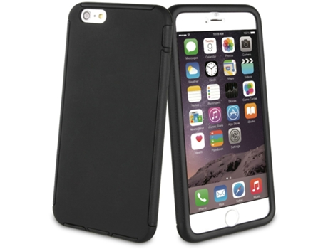 Capa iPhone 6 Plus, 6s Plus, 7 Plus, 8 Plus MUVIT Full Protection Preto — Compatibilidade: iPhone 6 Plus, 6s Plus, 7 Plus, 8 Plus