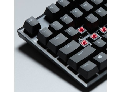 Teclado Gaming HYPER X Alloy FPS Pro (USB- Layout US - Switch Switch Cherry MX Blue) — Com fio USB | Mecânico | Layout US | Switch Cherry MX Blue | Iluminado