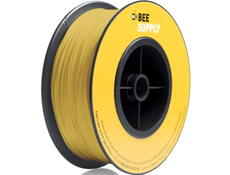 Filamento 3D BEESUPPLY Pla Zinc Yellow — Consumível 3D | 1.75 mm | 330 gr