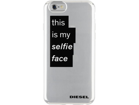 Capa DIESEL TPU Mirror iPhone 6, 6s Cinzento — Compatibilidade: iPhone 6, 6s