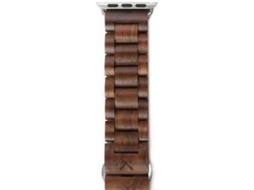 Pulseira WOODCESSSORIES Ecostrap Apple Watch 38 mm Prateado — Compatibilidade: Apple Watch 38 mm