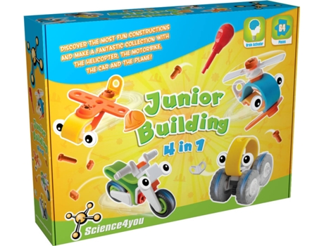 Metal Science4You Building Junior 4 Em 1 — Science4You