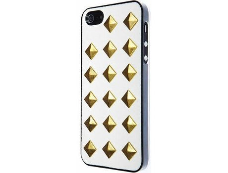 Capa VCUBED3 Metal Rhombus iPhone 5, 5s, SE Branco — Compatibilidade: iPhone 5, 5s, SE