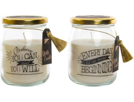 Pack 2 velas ITEM Believe & Begining — Contemporâneo - Vidro