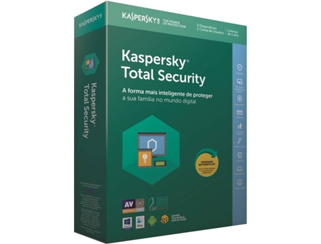Software KASPERSKY Total Security  2018 3 Users — Software | Segurança