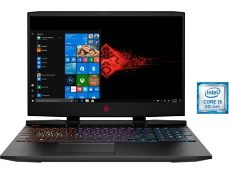 Portátil Gaming HP Omen 15-DC0059NP - 7MY00EA (15.6'' - Processador Intel® Core™ i5 de 8.ª geração, RAM: 8 GB, 256 GB SSD, NVIDIA GeForce GTX 1050) — Windows 10 Home | Full HD