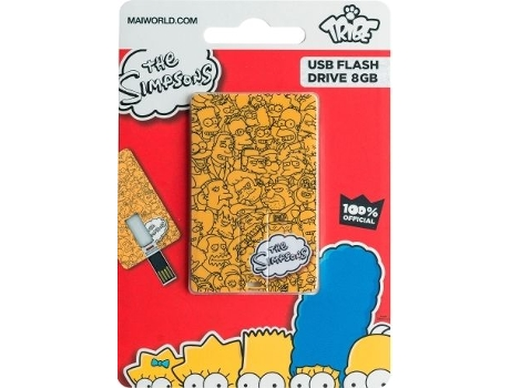 Pen USB TRIBE USBCard Simpsons Logo 8GB — 8 GB | USB 2.0