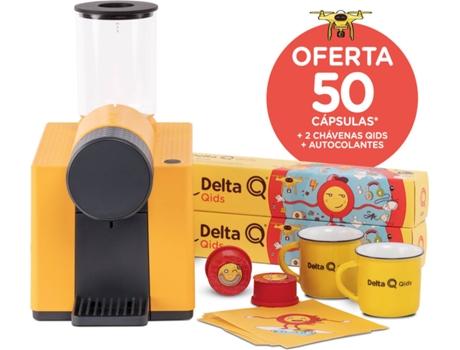 Máquina de Café DELTA Q Qit Qlip Amarela + Qids + Chávenas + Stickers (19 bar - Amarelo)