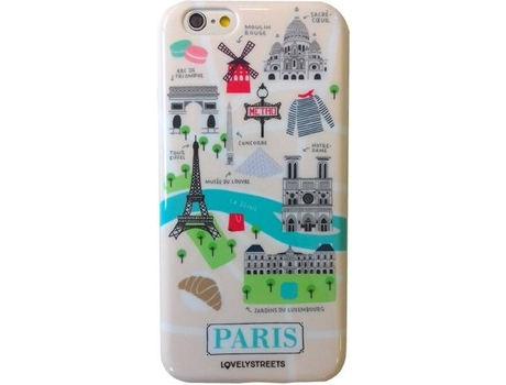 Capa LOVELY STREETS Viagem Paris iPhone 6, 6s — Compatibilidade: iPhone 6, 6s