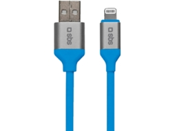 Cabo Lighting SBS USB MFI Azul Claro — USB/MFI