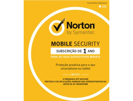 Software NORTON Mobile Security 3.0 1User — Para Smartphone ou Tablet | Licenças ilimitadas | 1 ano