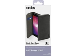 Capa SBS Book LG X Power Preto — Compatibilidade: LG X Power