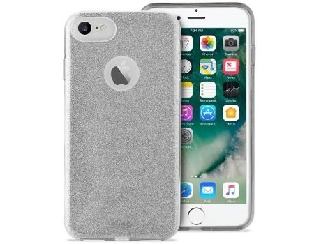 Capa PURO Shine iPhone 7, 8 Prateado — Compatibilidade: iPhone 7, 8