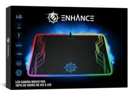 Tapete Gaming ENHANCE Led Pad em Preto — Base Antiderrapante