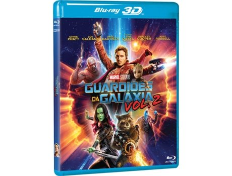 Blu-Ray 3D+ 2D Guardiões Da Galáxia Vol. 2 — Do realizador James Gunn