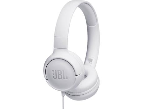 Auscultadores Com Fio Jbl Tune 500 (On Ear - Microfone - Branco)   [6769001 ]