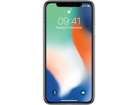 Smartphone APPLE iPhone X 256GB Prateado — 11 / 5.8'' / A11 Bionic