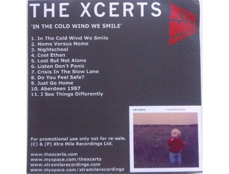 CD The Xcerts - In The Cold Wind We Smile