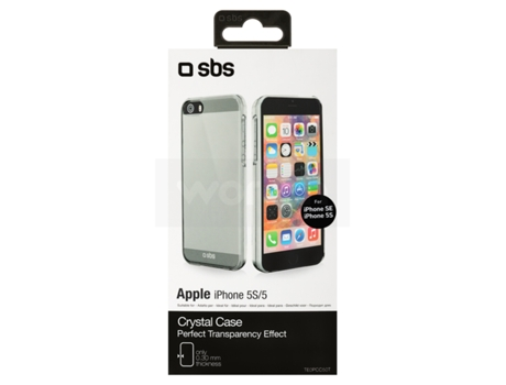 Capa iPhone 5, 5s, SE SBS Crystal Transparente — Compatibilidade: iPhone 5, 5s, SE