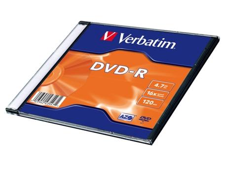 DVD-R VERBATIM 16X 4.7GB UNIT.   [4251771 ]