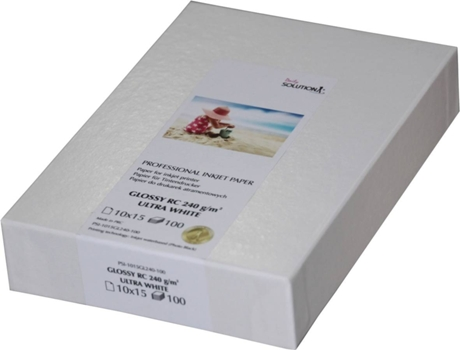 Papel GLOSSY Solution 10X15 100 Folhas — 100 Folhas