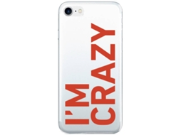 Capa SBS I'm Crazy Apple iPhone 6, 6s, 7, 8 Transparente — Compatibilidade: iPhone 6, 6s, 7, 8