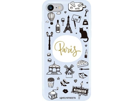 Capa LOVELY STREETS Viagem Paris iPhone 7, 8 — Compatibilidade: iPhone 7, 8