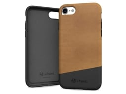 Capa I-PAINT Leather iPhone 8 / iPhone 7  Brown — Compatibilidade: iPhone 8 / iPhone 7