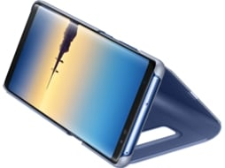 Capa SAMSUNG Clear View Samsung Galaxy Note 8 Azul — Compatibilidade: Samsung Galaxy Note 8