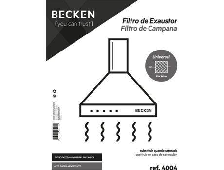 Filtro de Exaustor BECKEN Ref. 4004 - 90x40 | [4552098 ]