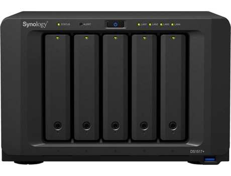 Caixa NAS SYNOLOGY DS1517+8GB — Intel Atom C2538 |  Nº de compartimentos: 5